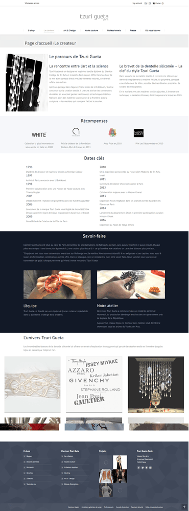 creation page design