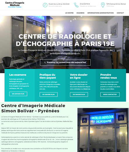 creation site radiologie