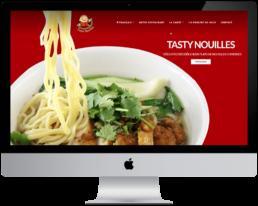 aperçu site internet tasty nouille créé par advendia