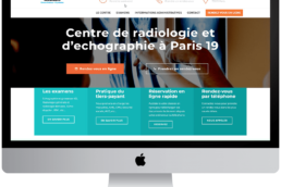 apparence page accueil site internet radiologie paris