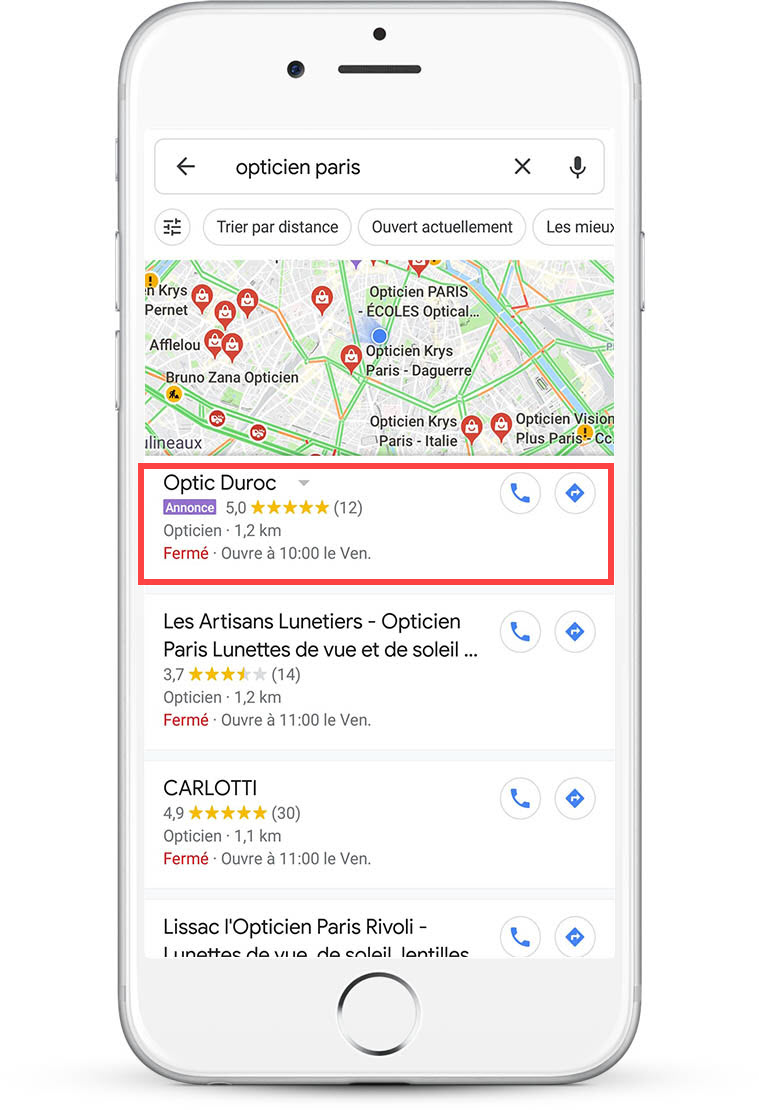 Publicité Fiche Google My Business