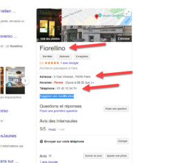 citation locale exemple google my business